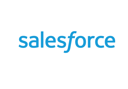 Salesforce logo detail white